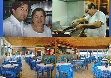 meltemi restaurant >> Enjoy the clear crystal sea of Kokkari beach